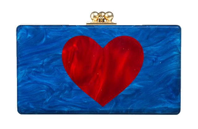 Edie Parker Heart Jean Clutch