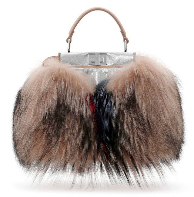 Fendi Peekaboo Mini Fur Satchel