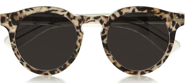 Illesteva Leonard 2 Leopard-print Round-Frame Sunglasses