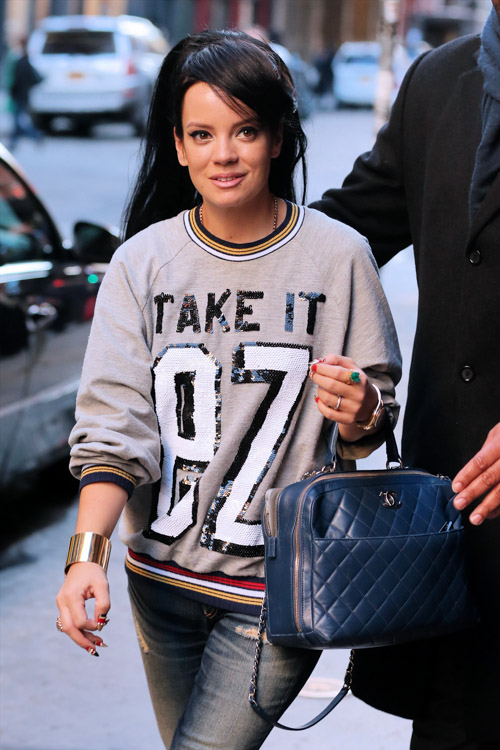 Lily Allen Chanel Bowling Bag-3