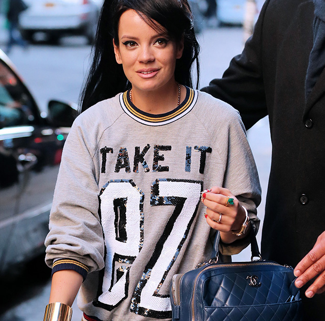 Lily Allen Chanel Bowling Bag