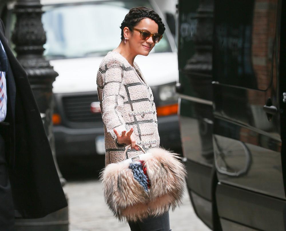 Lily Allen Fendi Fur Peekaboo Bag