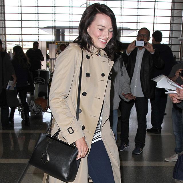 Margot Robbie Fendi 2Jours Mini Tote Bag