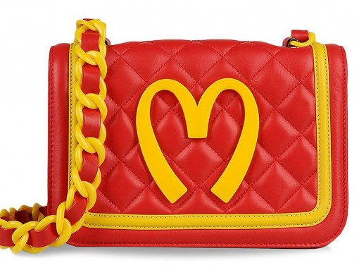 Moschino Junk Food Capsule Collection Quilted Leather Bag Front