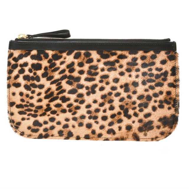 Pierre Hardy Leopard Print Calf Hair and Leather Pouch.jpg