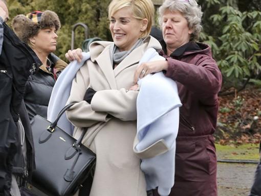 Sharon Stone Alexander McQueen Heroine Zip Tote