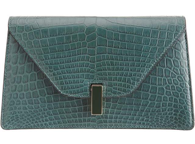 Valextra Alligator Isis Clutch