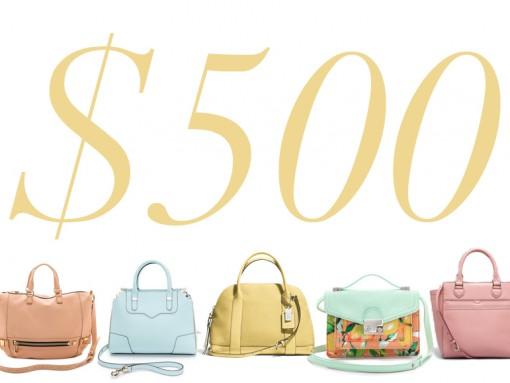 5 Under 500 Pastel Bags
