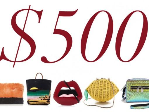 5 Under 500 Statement Bags