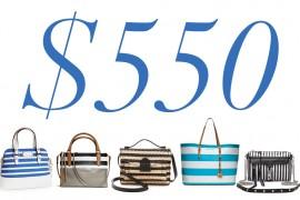 5 Under 500 Stripe Bags