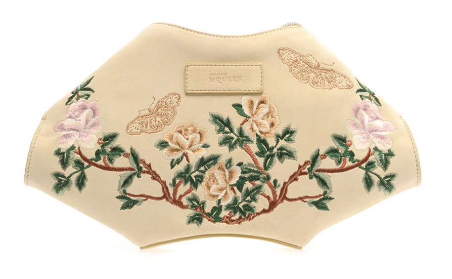 Alexander McQueen DeManta Embroidered Clutch
