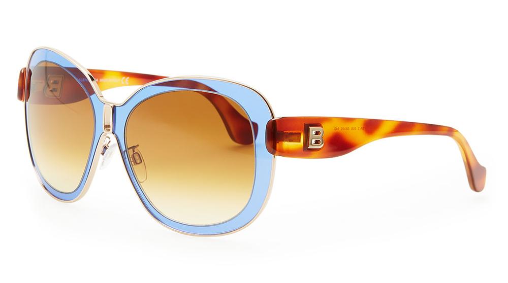 Balenciaga Transparent Framed Sunglasses