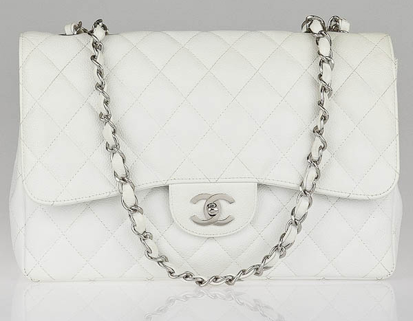 Chanel Classic Flap Bag White