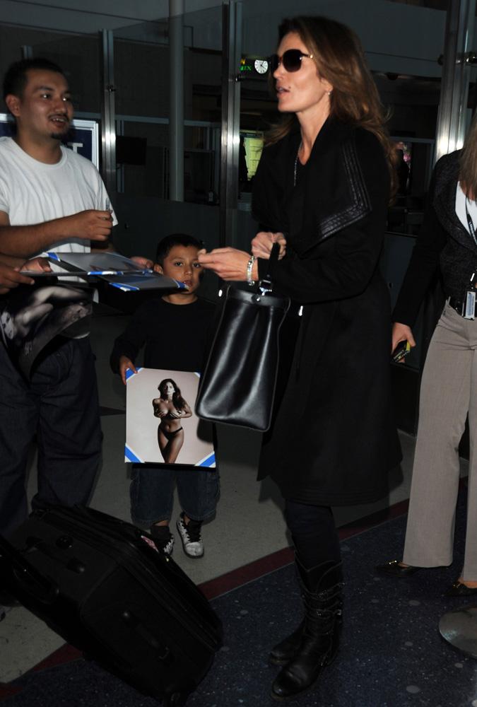 Cindy Crawford Fendi Peekaboo Bag 1
