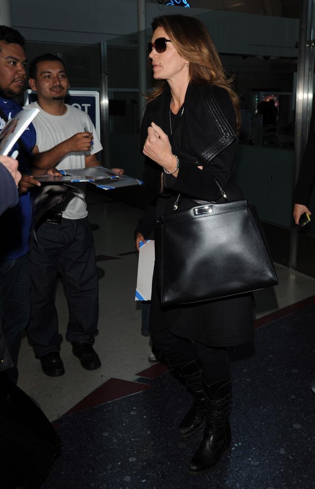 Cindy Crawford Fendi Peekaboo Bag 3