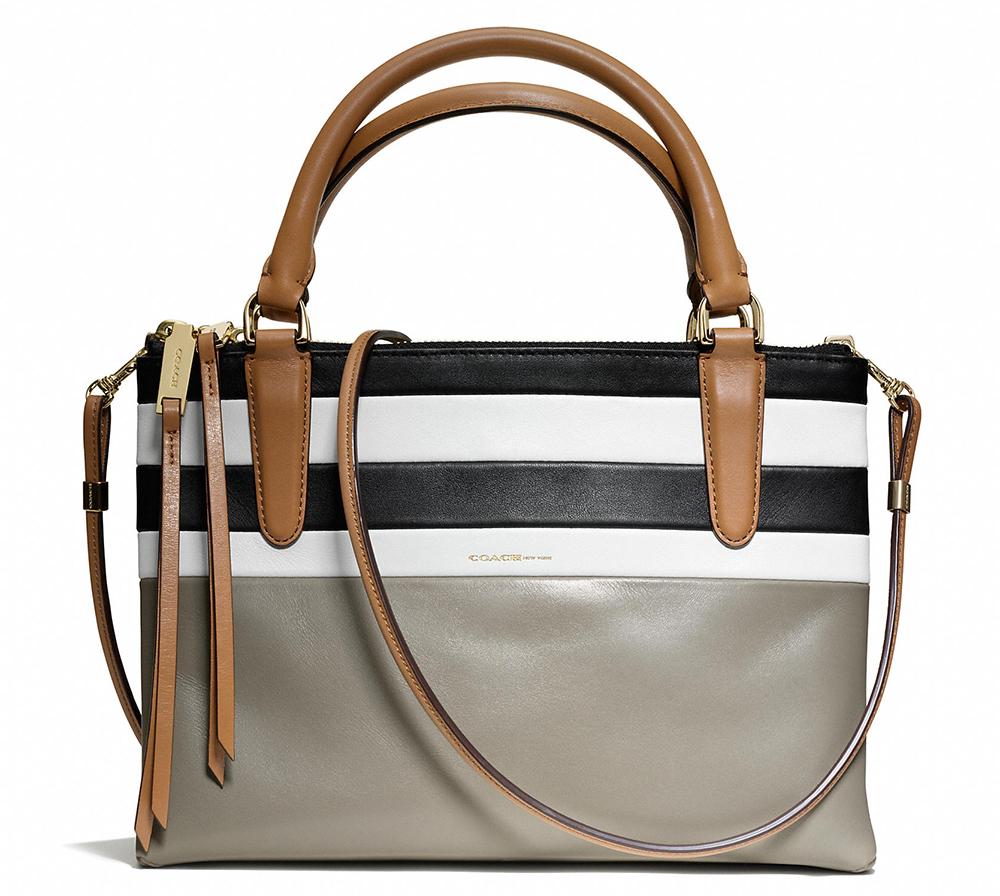 Coach Mini Borough Bag in Bar Stripe