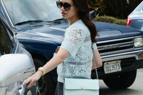 Emmy Rossum Runs Errands with a Rebecca Minkoff Bag
