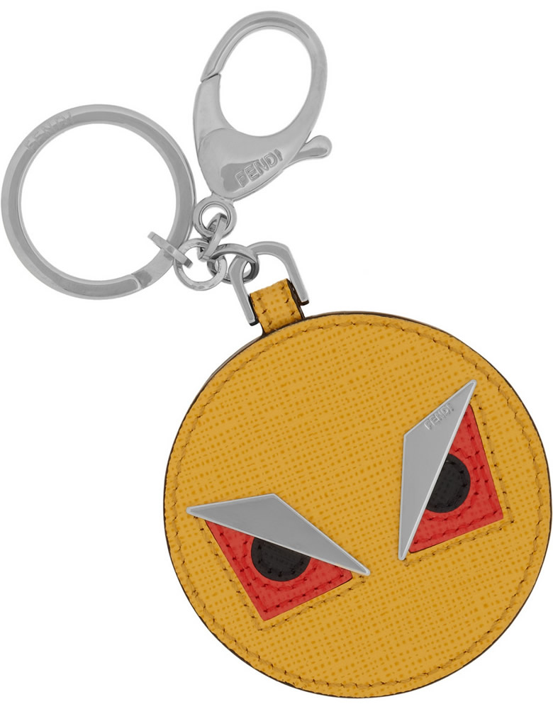 Fendi Monster Saffiano Key Fob