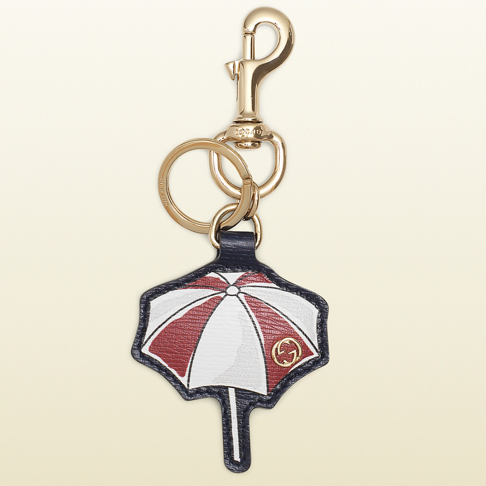 Gucci Parasol Leather Key Charm