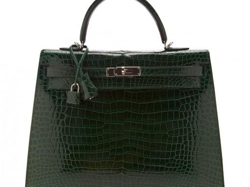 Hermes Crocodile Sellier Kelly Bag