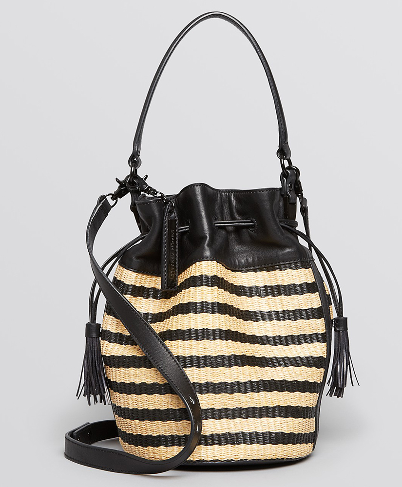 Loeffler Randall Woven Industry Bucket Bag