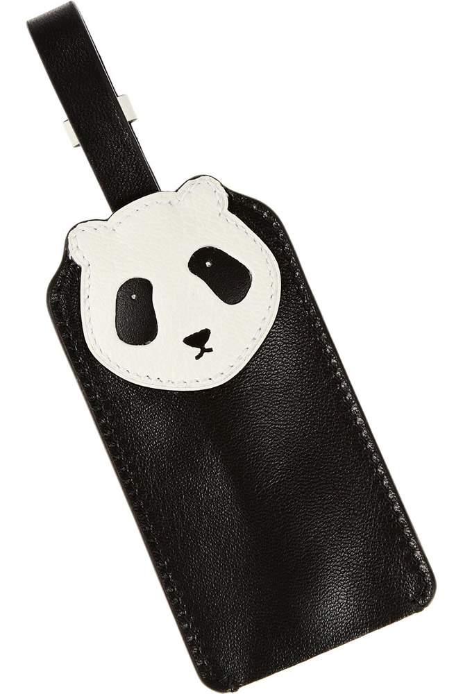 Loewe Leather Panda Key Fob