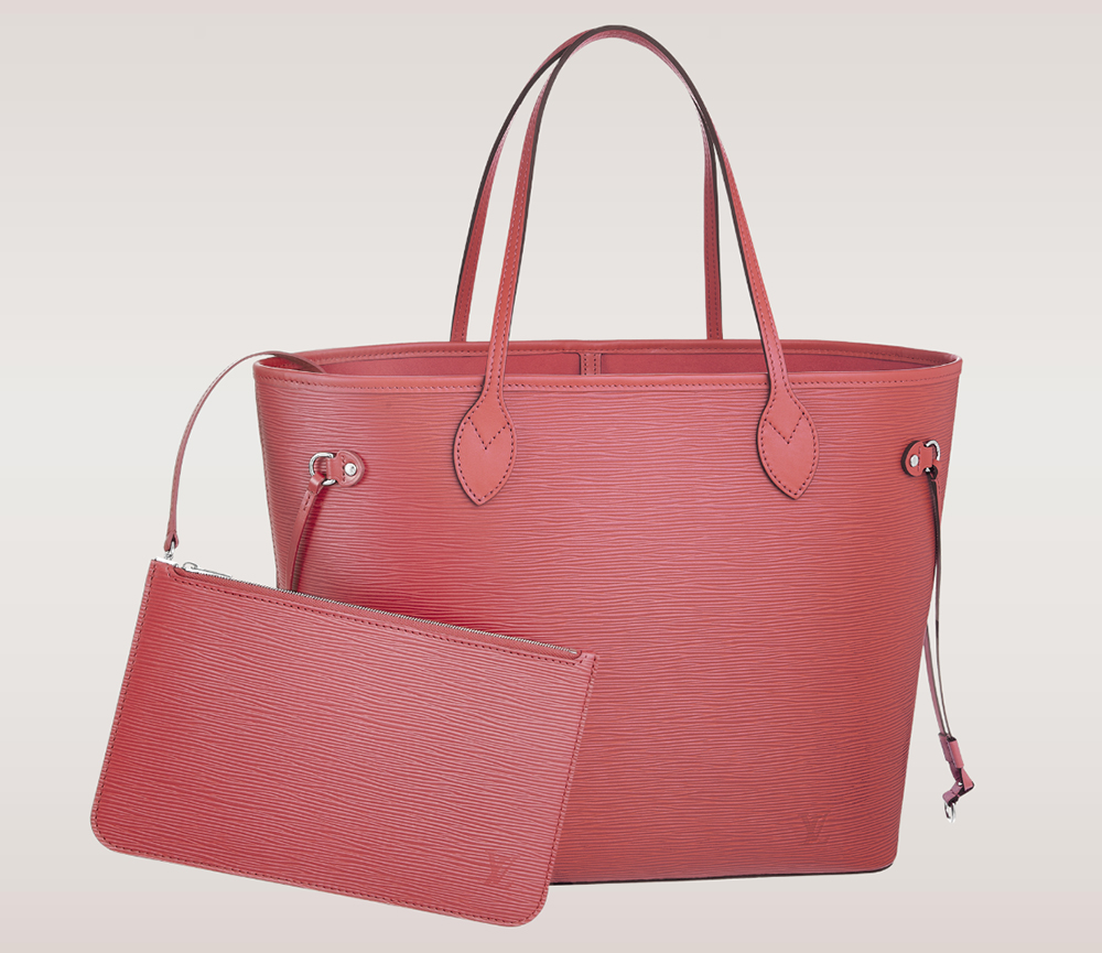 Louis Vuitton Epi Leather Neverfull MM Corail