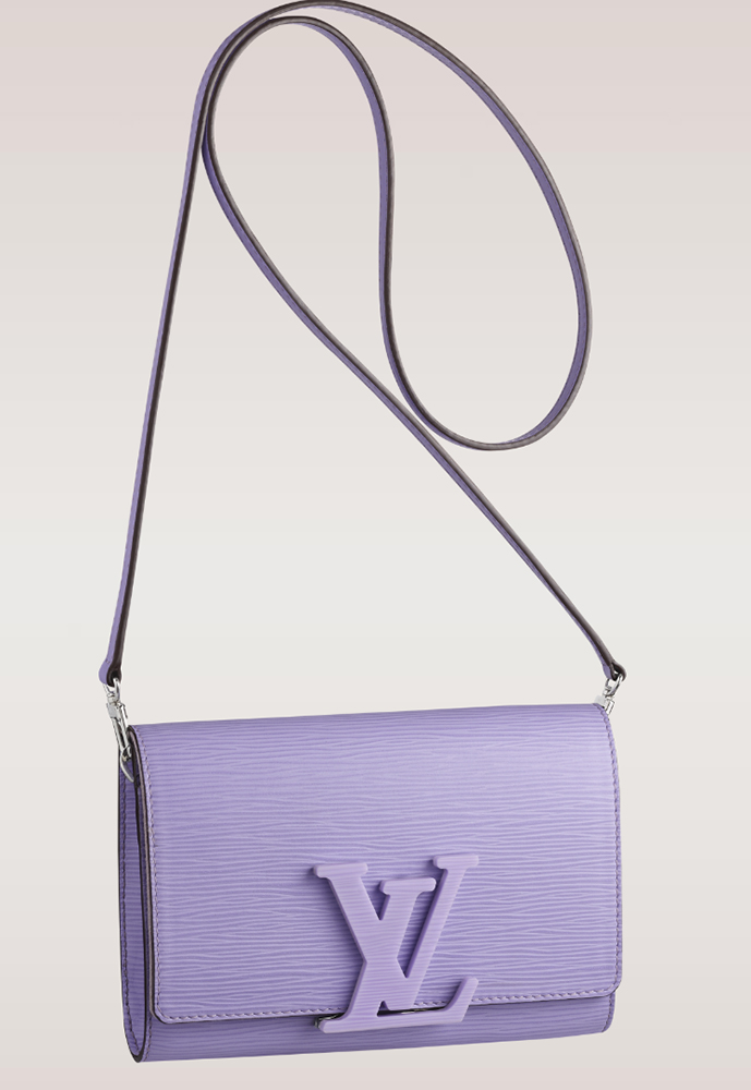Louis Vuitton Louise Epi Leather Shoulder Bag Lilas