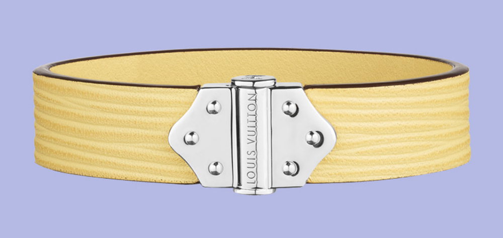 Louis Vuitton Spirit Epi Leather Bracelet Jaune Pale