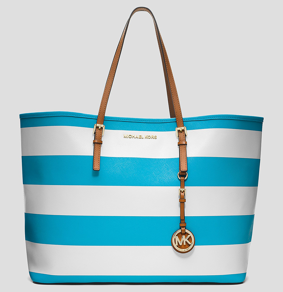 MICHAEL Michael Kors Jet Set Stripe Medium Tote