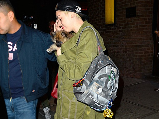 Miley Cyrus Chanel Graffiti Backpack