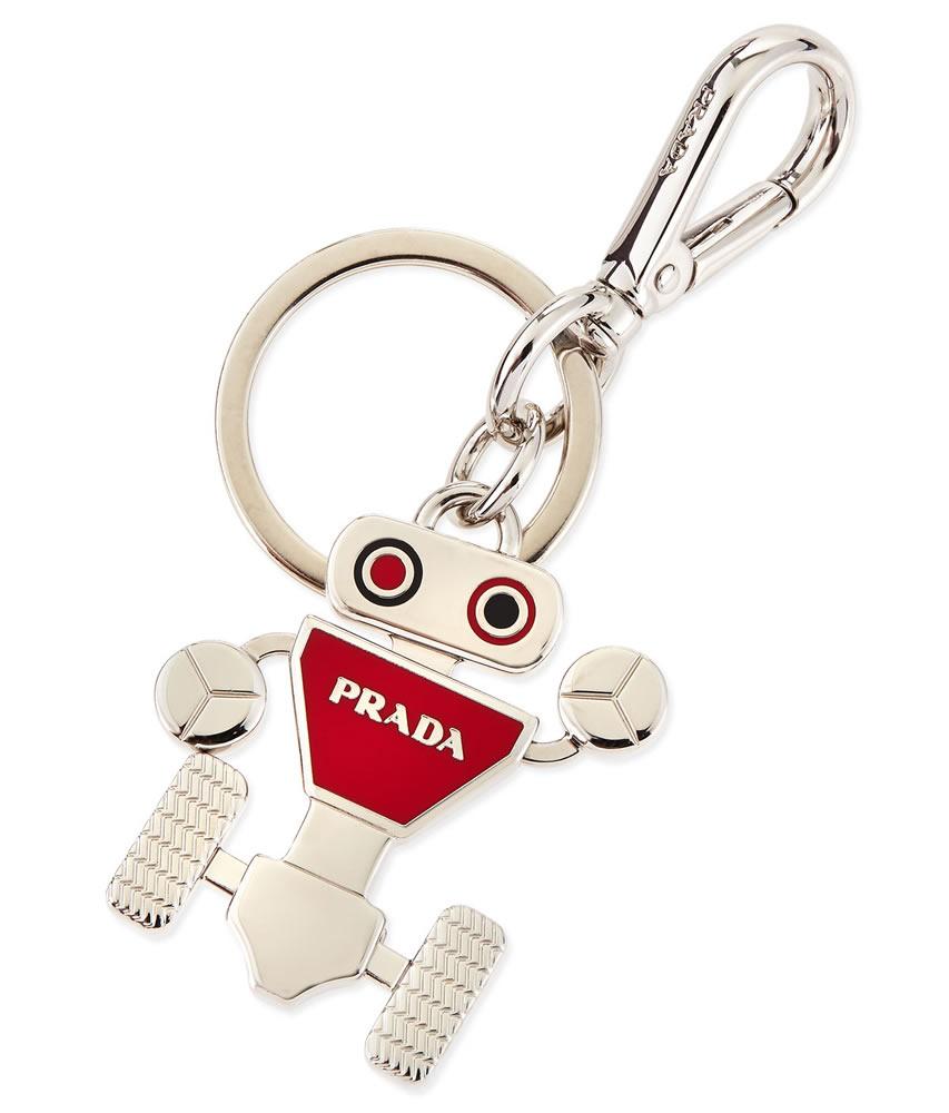 Prada Robot Logo Keychain