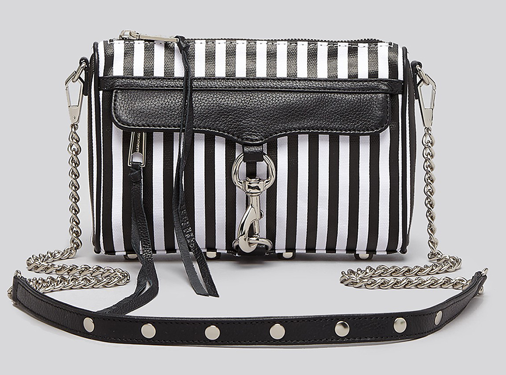 Rebecca Minkoff Striped Mini MAC Bag