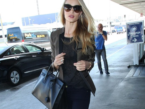 Rosie Huntington-Whiteley Saint Laurent Sac de Jour Bag