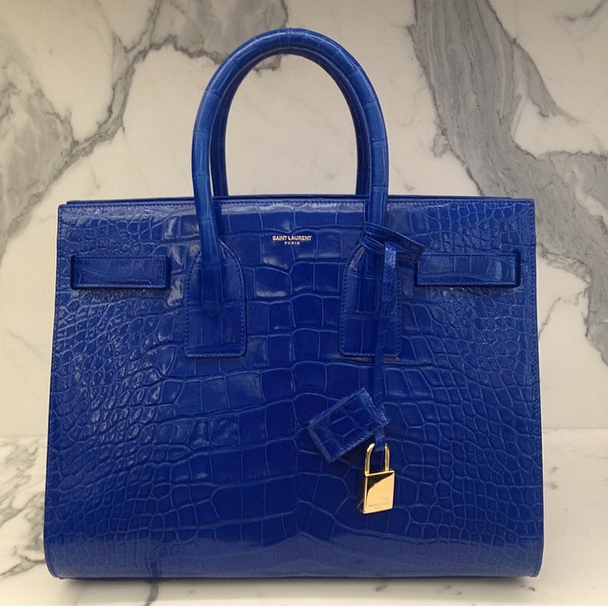 Saint Laurent Crocodile Sac de Jour Chicago Robbery