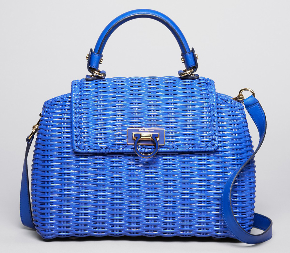 Salvatore Ferragamo Wicker Sofia Satchel