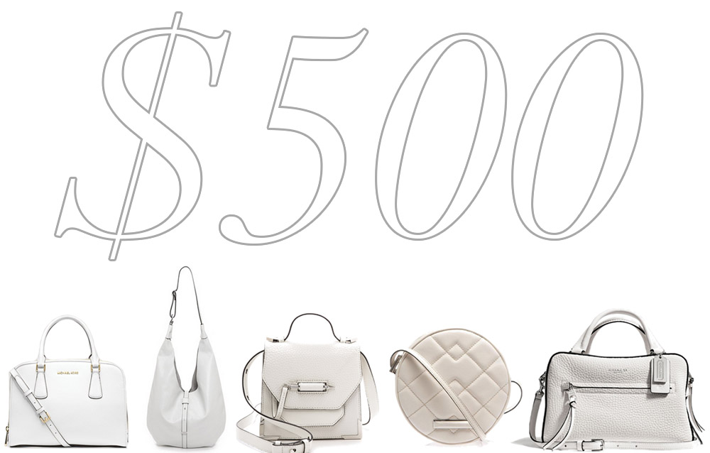 5 Under 500 Summer White Bags
