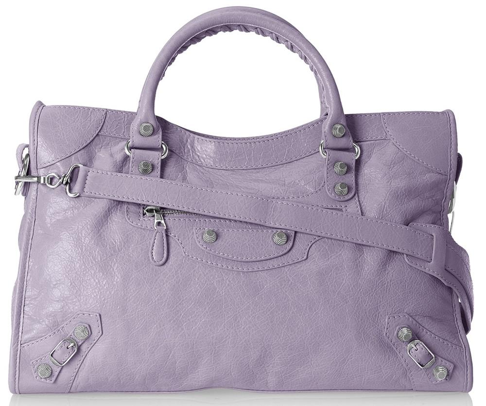 Balenciaga City Bag Purple