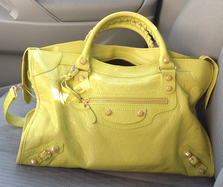 Balenciaga Yellow City Bag
