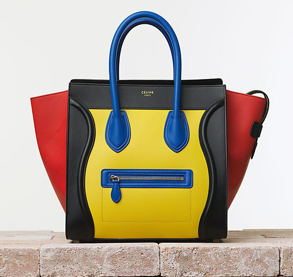 Celine Luggage Handbag in Smooth Calfskin Tricolor