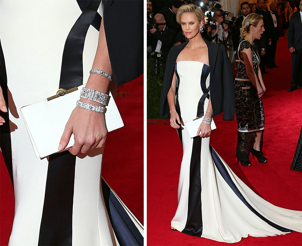 Charlize Theron Christian Dior Satin Clutch