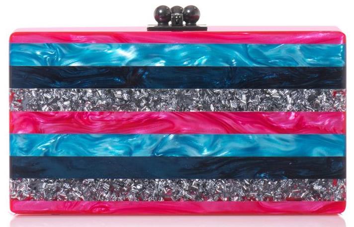 Edie Parker Jean Striped Box Clutch