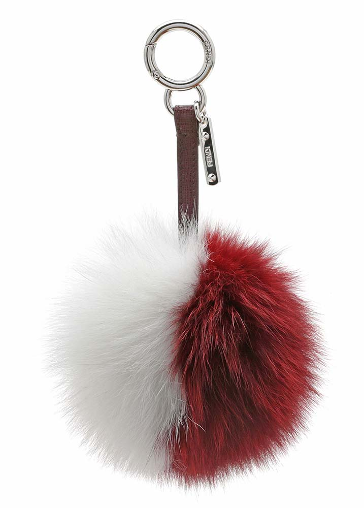 Fendi Fur Charm Red