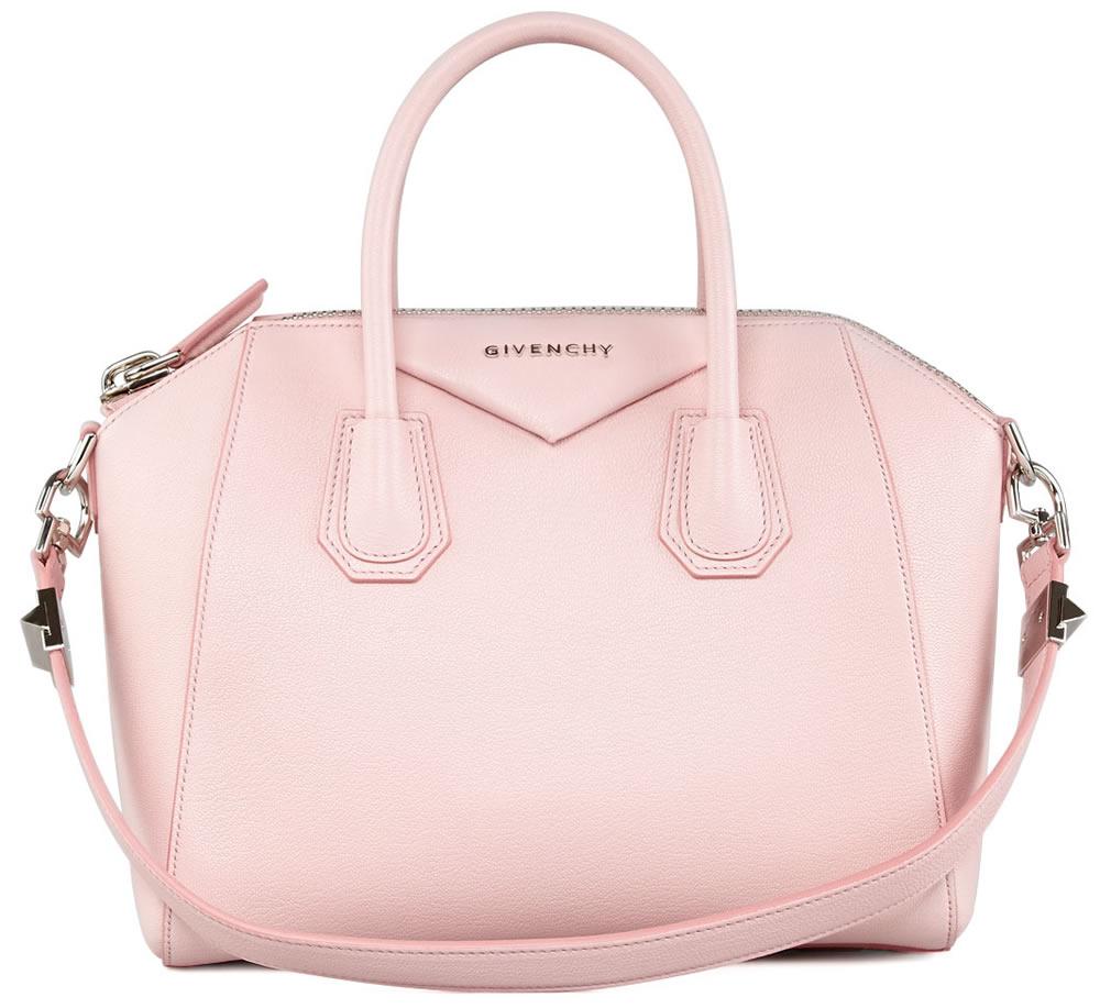 Givenchy Antigona Small Sugar Goatskin Satchel Bag Light Pink