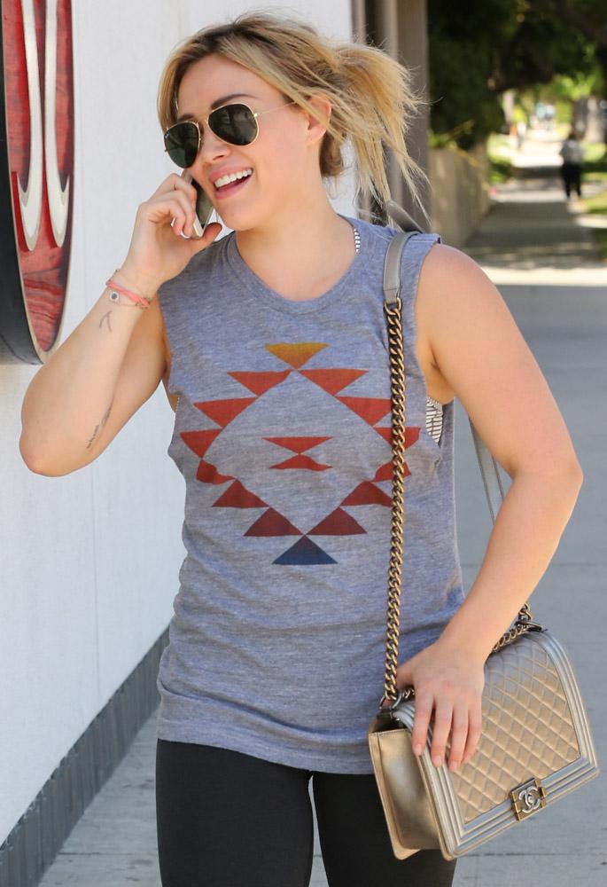 Hilary Duff Chanel Boy Bag-3
