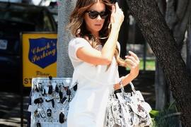 Kate Beckinsale Proenza Schouler PS13 Snakeskin Bag