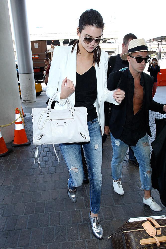 Kendall Jenner Balenciaga City Bag-2