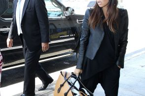Kourtney Kardashian Carries an Overstuffed Celine Knot Tote