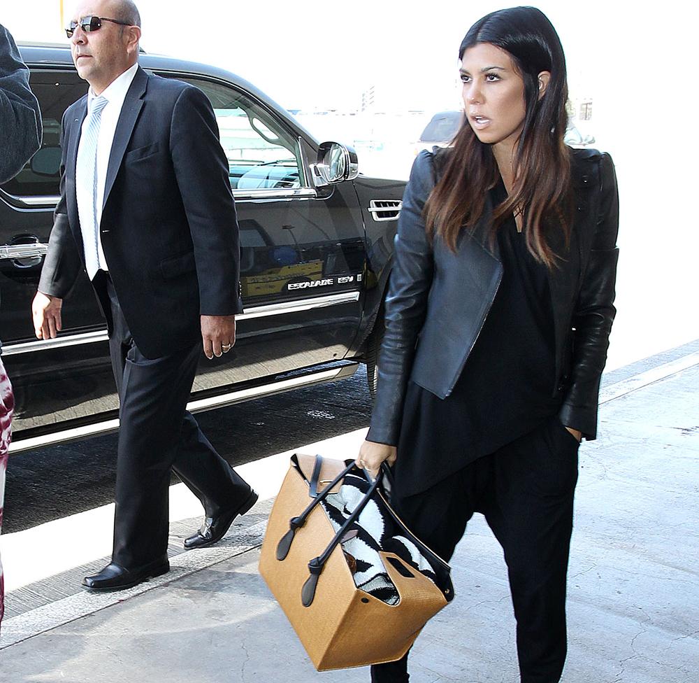 Kourtney Kardashian Celine Knot Tote