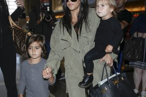 Kourtney Kardashian Carries a Birkin En Route to Kim's Wedding